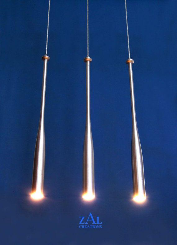 Baseball Bat Track Lighting Pendant Light Made From Real Metal