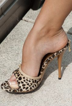 Girls feet in heels