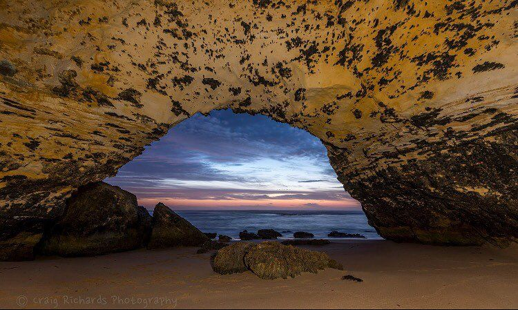 I was so excited about going to this almost unknown archway on the #greatoceanroad it's around a 3.5km walk just to get there and I'd been waiting months and tracking the sun till it set in the archway  #clickalps_masterphotocontest #greatoceanroad #exploringaustralia #instagramaustralia #abcopenlines #australiagram #amazing_australia #seegro #sunset #seascape #seeaustralia #downunderpics  #love3280 #lightjunkies #clouds #visitvictoria #visitwarrnambool  #nikond750 #nikonaustralia…