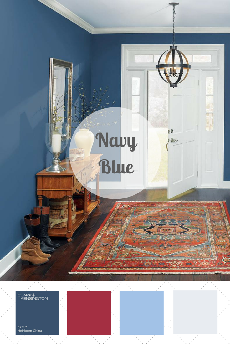 Pair navy with coral or deep reds and any shade of green — like Kelly green, sky blue or even lime — to freshen up an indoor or outdoor room with this happy-meets-hip color palette. Vote for your favorite color palette on HGTV.com >> http://www.hgtv.com/design/packages/color-vs-color/vote-for-your-favorite-color-palette?soc=pinterest