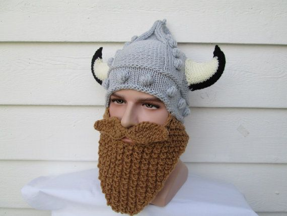 Viking beard hat Long Beard hat Snowboard viking by Ritaknitsall ...