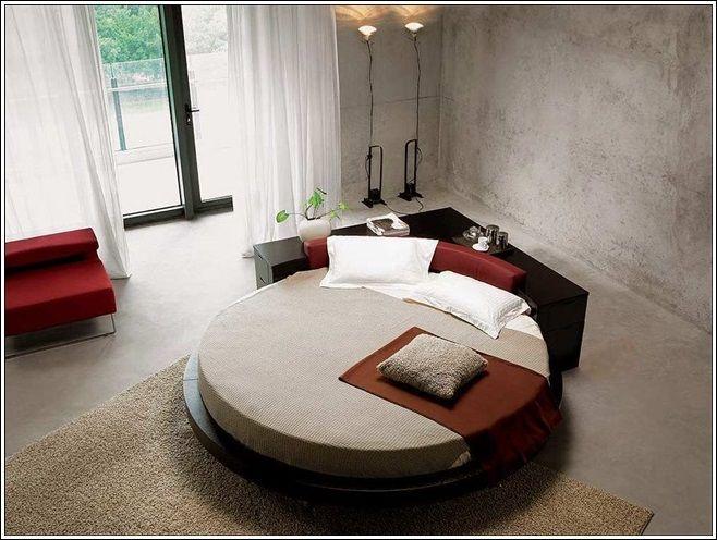 Chambre à coucher de rêve lits circulaires