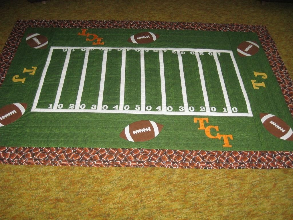 Football Quilts Easy Football Quilt By Sewing Cindy