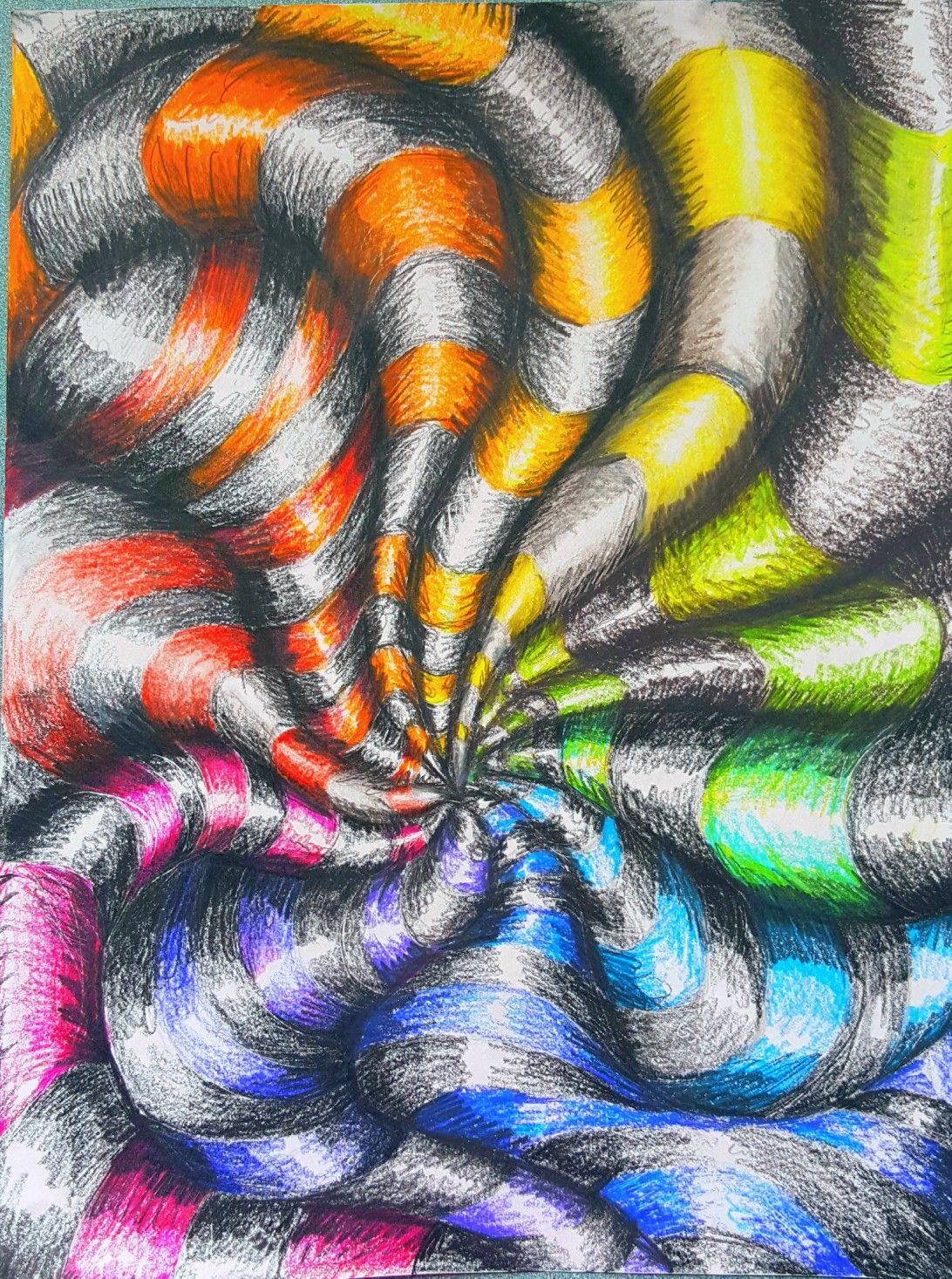 Op Art Colorwheel L M S Art Ed Central 7th Grade