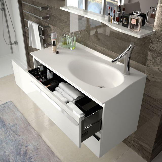 Meuble salle de bain : les nouveautés du moment   Intérieurs noirs ...