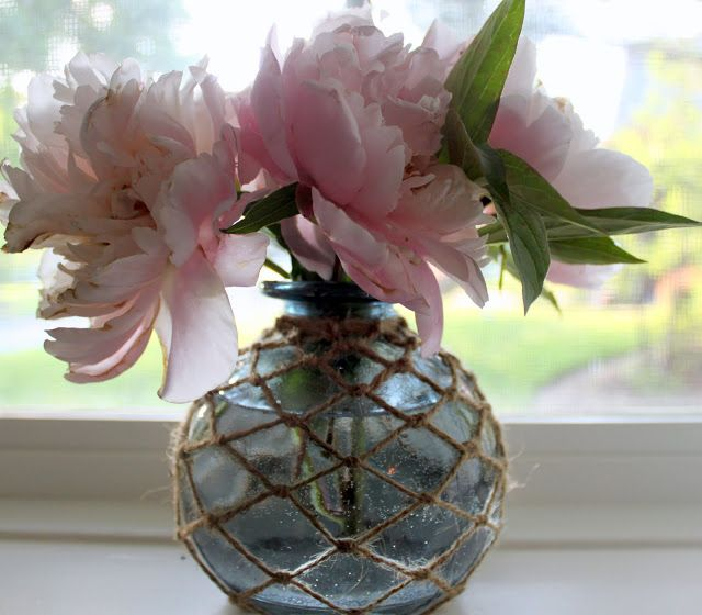 try to do this- sisal and vase