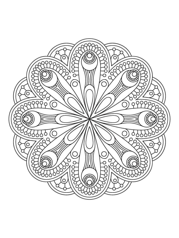 Mindfulness Mandalas N 1 Coloring Pages Mandala