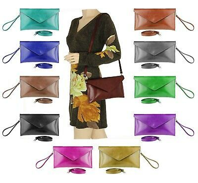 Photo of ITALY DAMEN TASCHE LACK LEDER Umhängetasche Schultertasche Clutch CROSS-OVER