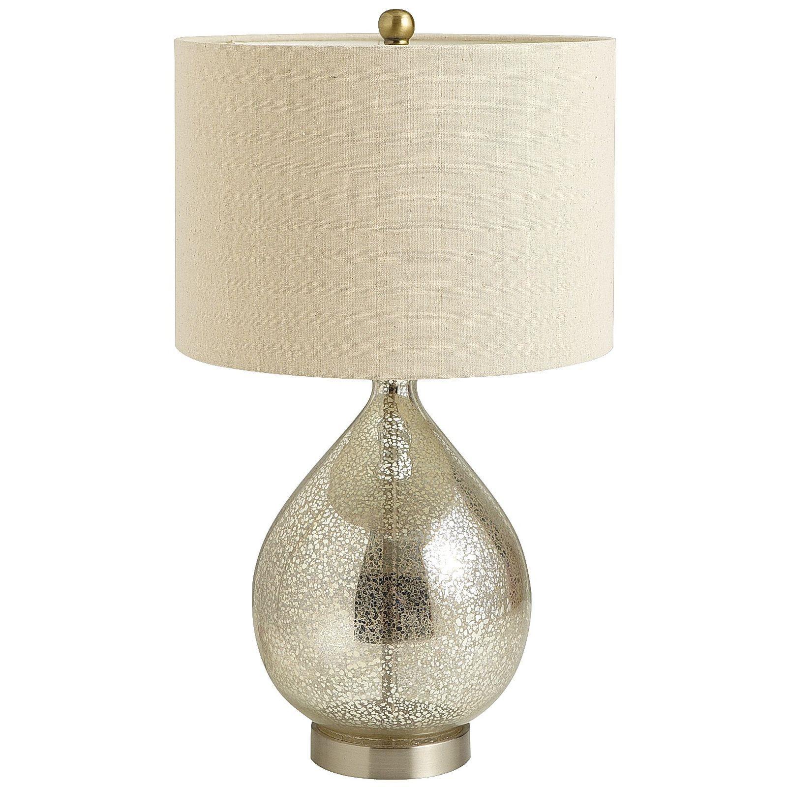 Teardrop Luxe Lamp Mercury Glass Table Lamp Mercury Glass Lamp Elegant Table Lamp