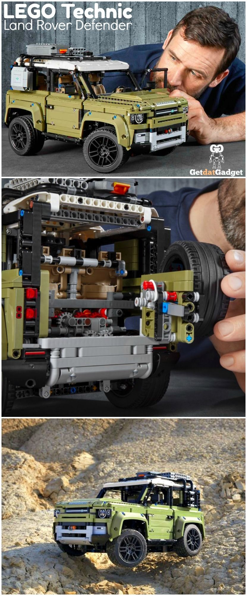 Lego Land Rover Defender With Working High And Low Range Gears