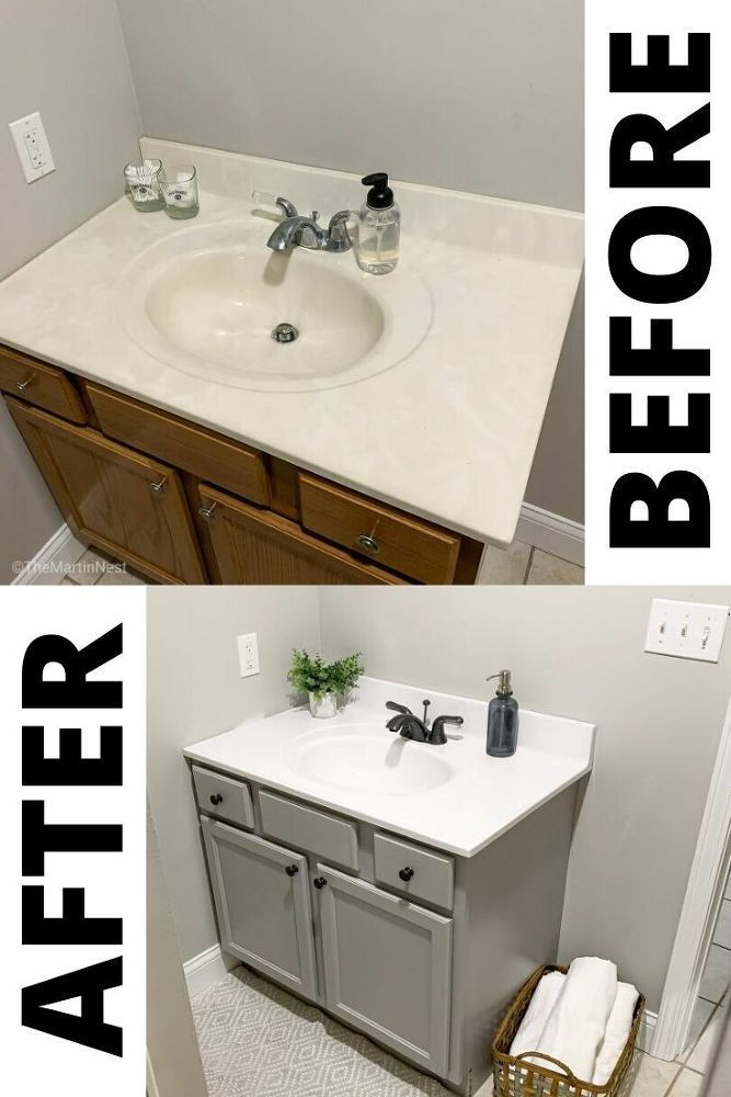 Photo of How to Paint Your Outdated Bathroom Counterop for Less Than $5 DIY