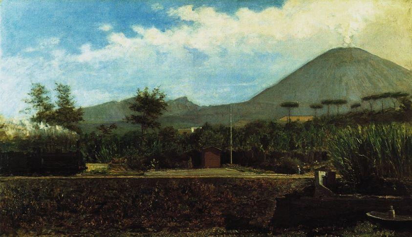 Gioacchino Toma Sotto il Vesuvio di mattina, 1882 oil on canvas, 71 x 122 cm. Museo Nazionale di Capodimonte, Napoli