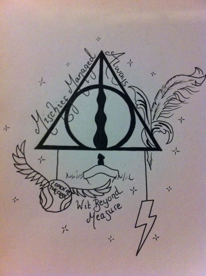 Unique Harry Potter Tattoos Deathly Hallows Symbol Harry Potter