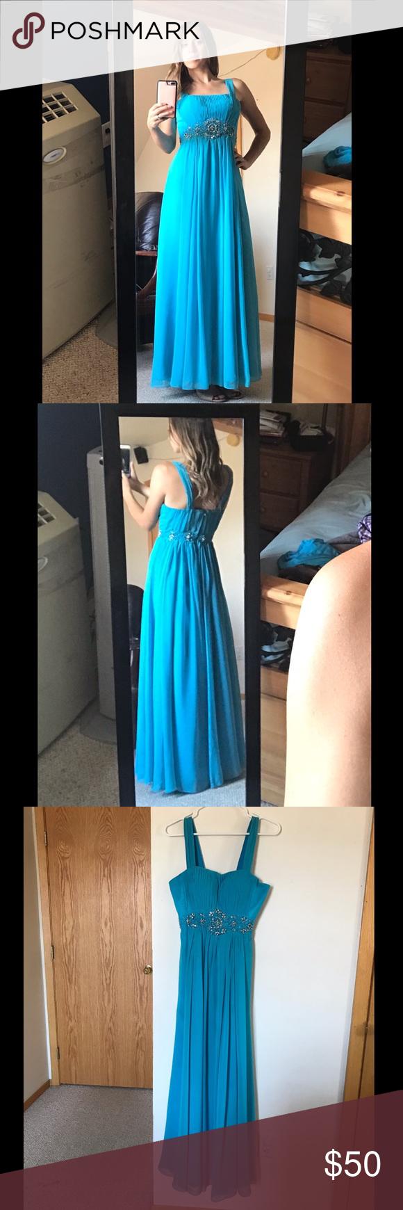 Aqua blue may queen promevent dress my posh closet pinterest