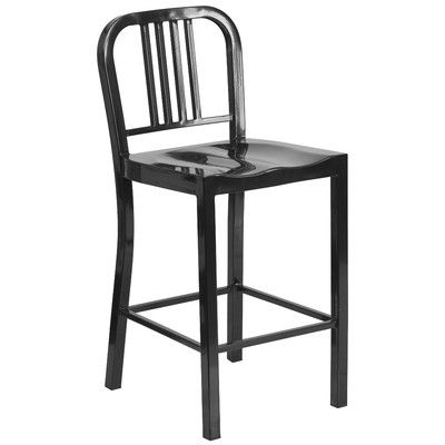 New Black Metal Bar Stools