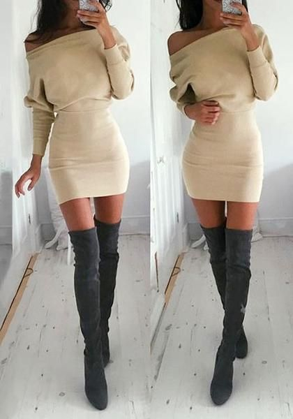 pretty_model_is_wearing_Beige_One-Shoulder_Dress_with_high_boots_a6d901c9-4287-4c24-a433-ed6ea878a7f7_grande.jpg (420×600)