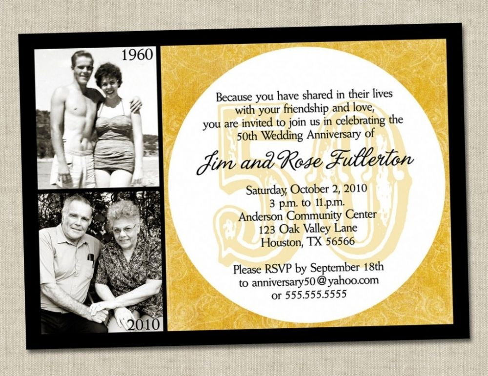 50th Wedding Anniversary Invitation Ideas: Funny Wording For 50th Wedding Anniversary Invitations