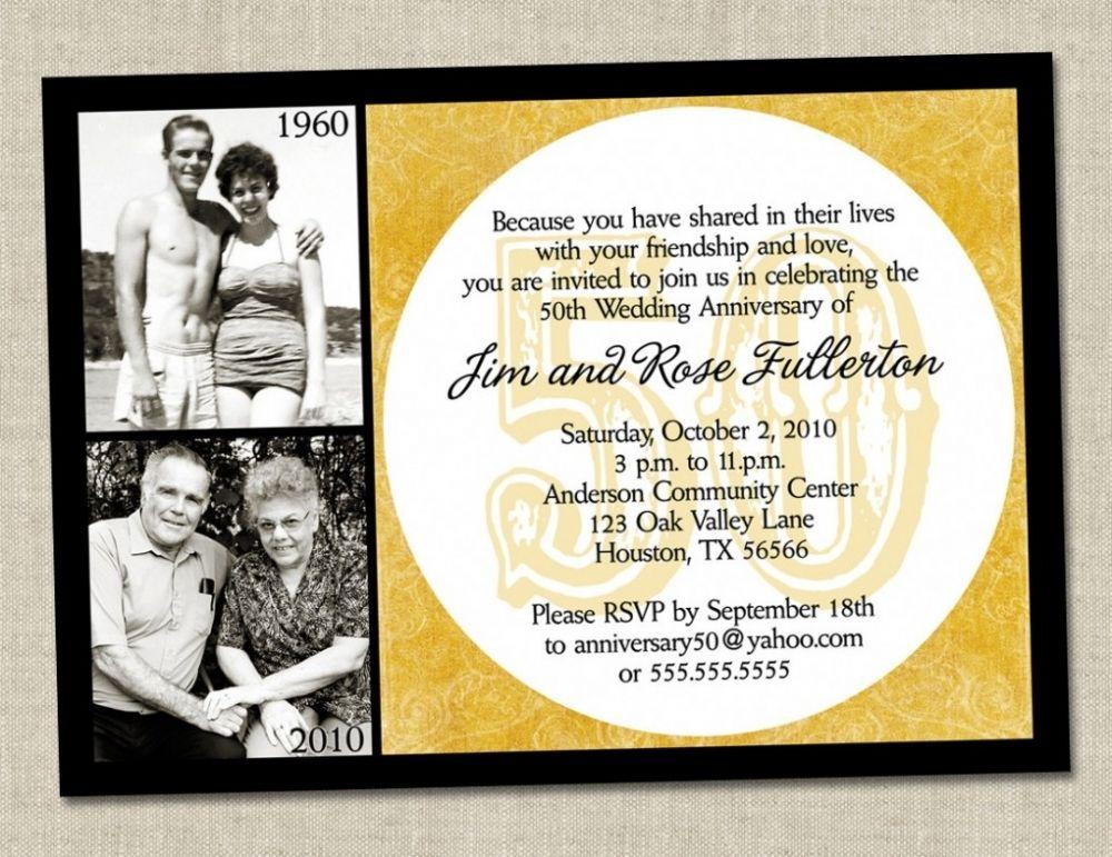 funny wording for 50th wedding anniversary invitations - Google ...