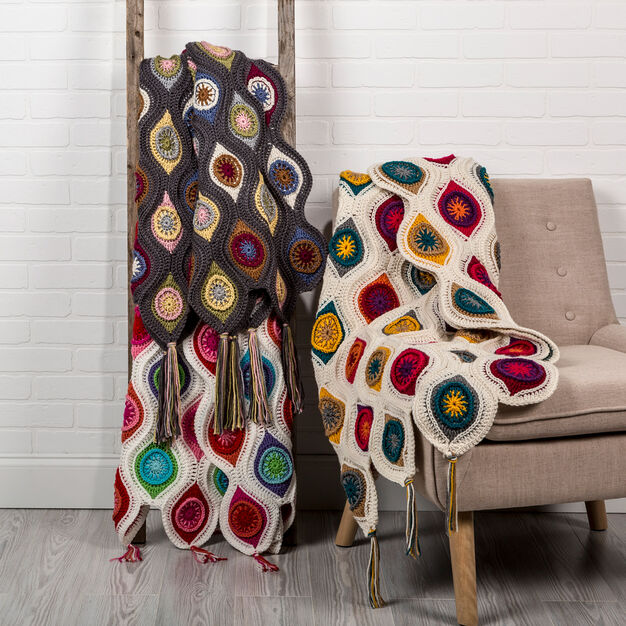 TRANQUIL RETRO THROW PATTERN - KnitCraft #knit #crochet #homedecor #craft #pattern #blanket