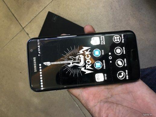 S7 edge black 1sim-mới 99% fullboxhàng Mỹbảng quốc tế