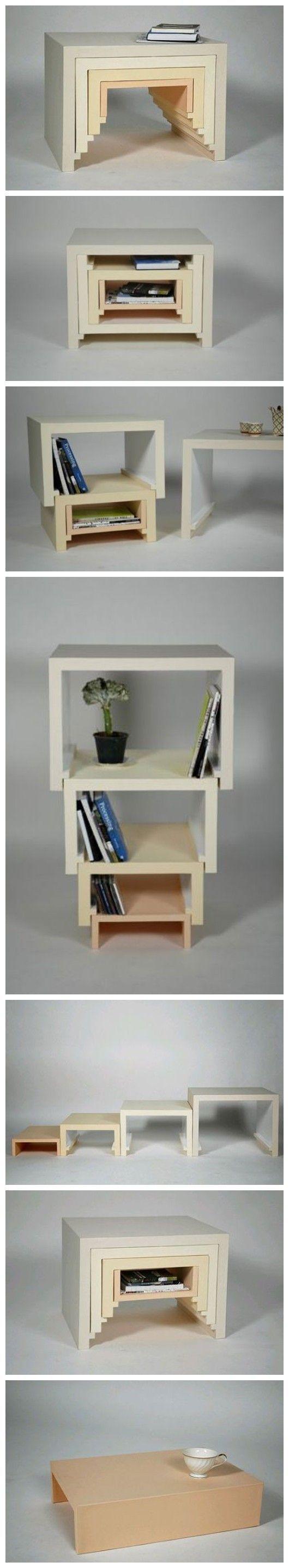 De esta manera, grandes y pequeños, el diseño de muebles apilados ...