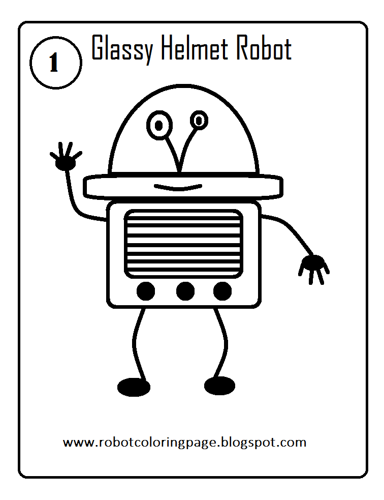 Pin de Monica Garcia en Robot coloring page and drawings for kids to ...