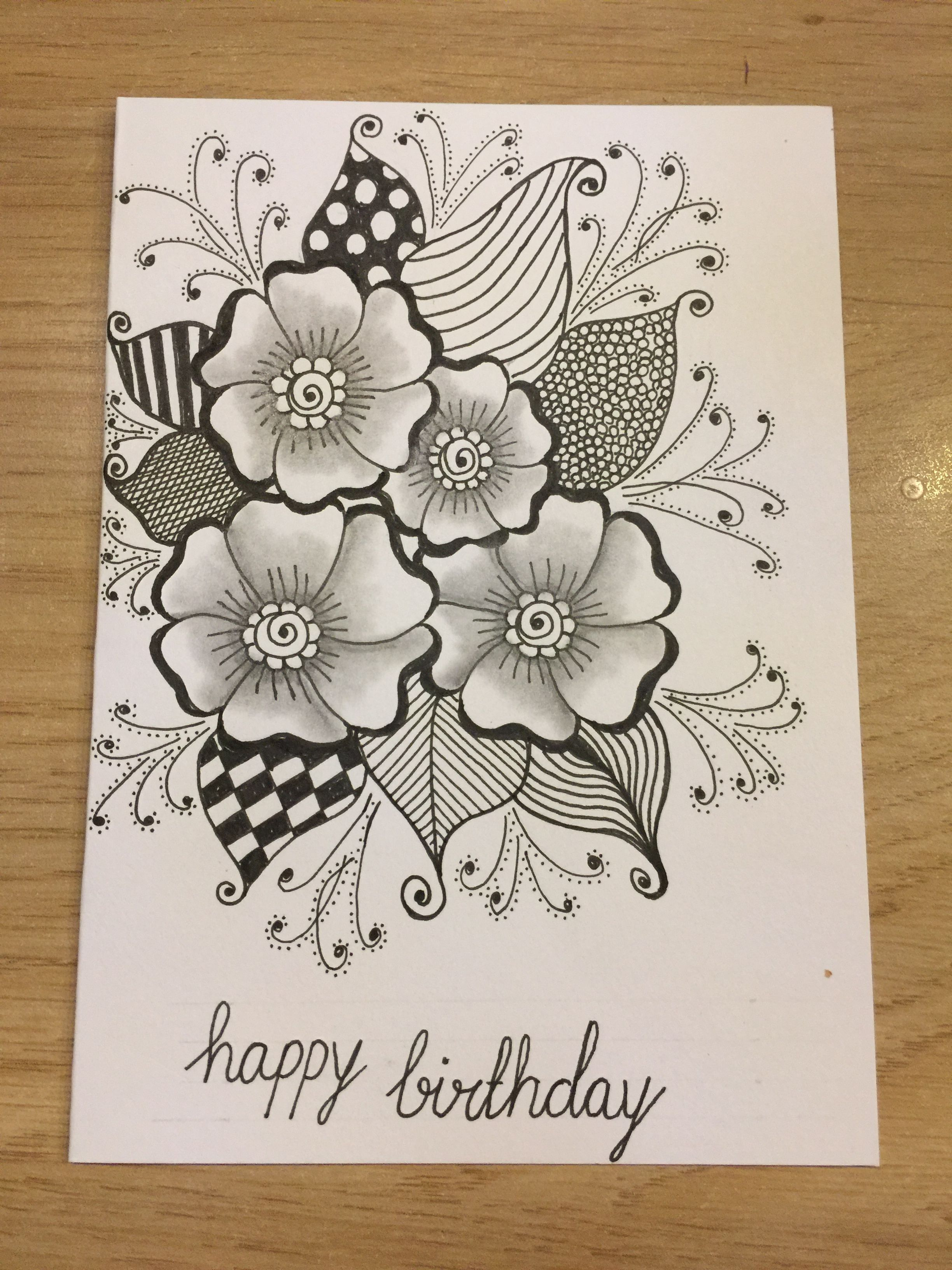 Pencil drawings · zentangle card create birthday card birthday card design mandala motif mandala art