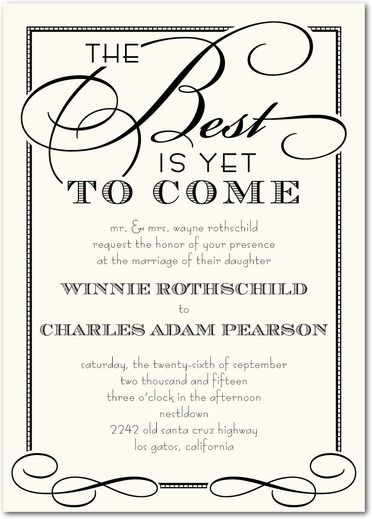 Best of All - Signature White Wedding Invitations - Sarah Hawkins - best of invitation card about wedding