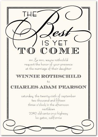 Best of All - Signature White Wedding Invitations - Sarah Hawkins - best of invitation letter wedding