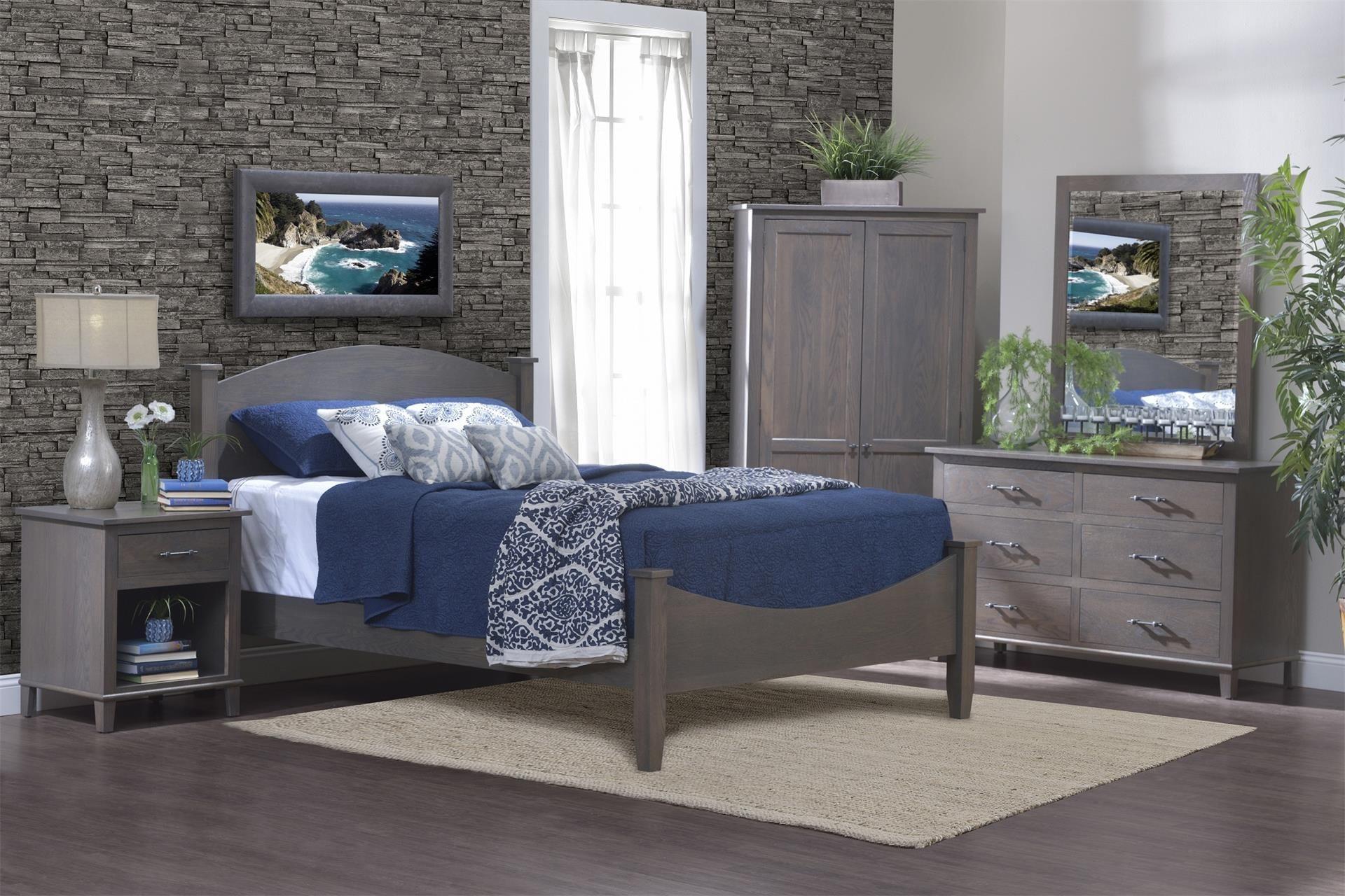 Amish Hamilton Five Piece Bedroom Set Contemporary