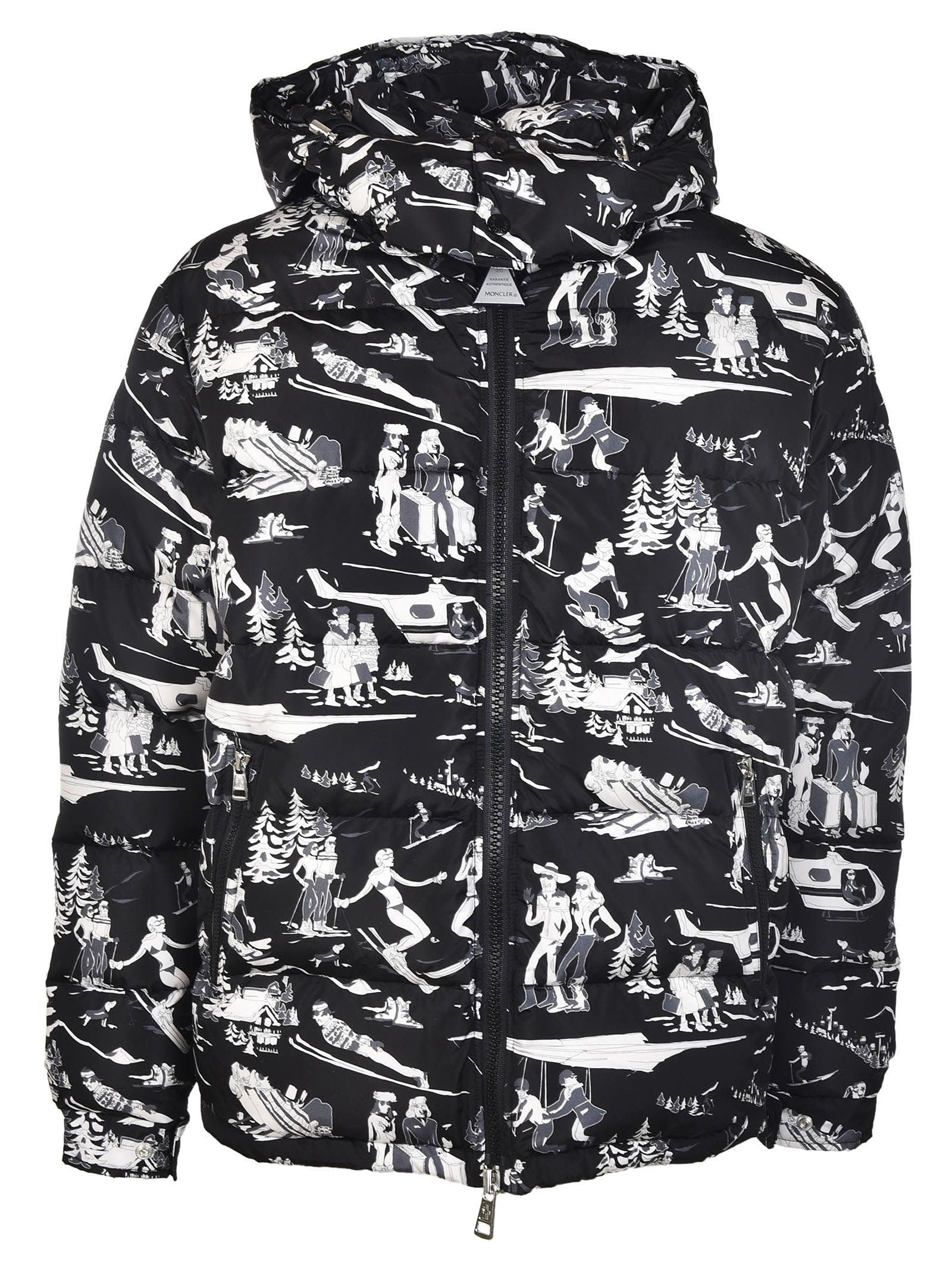 Piumino Uomo Moncler Arcy Stampa Montagna In 999 Down