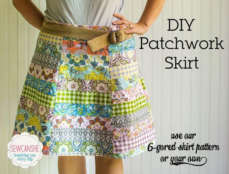 DIY Patchwork Skirt | Nähen