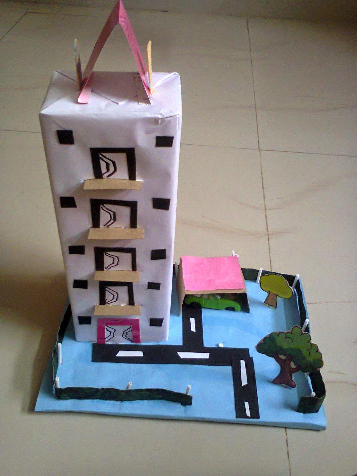 Creative Of Rainy House Model A School Project