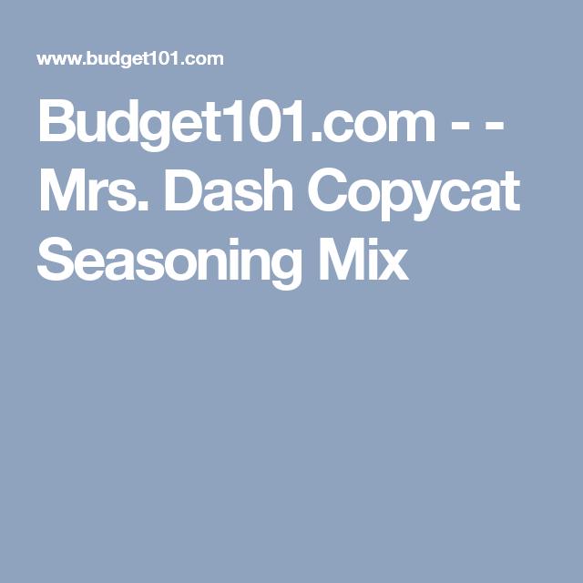 Budget101.com - - Mrs. Dash Copycat Seasoning Mix