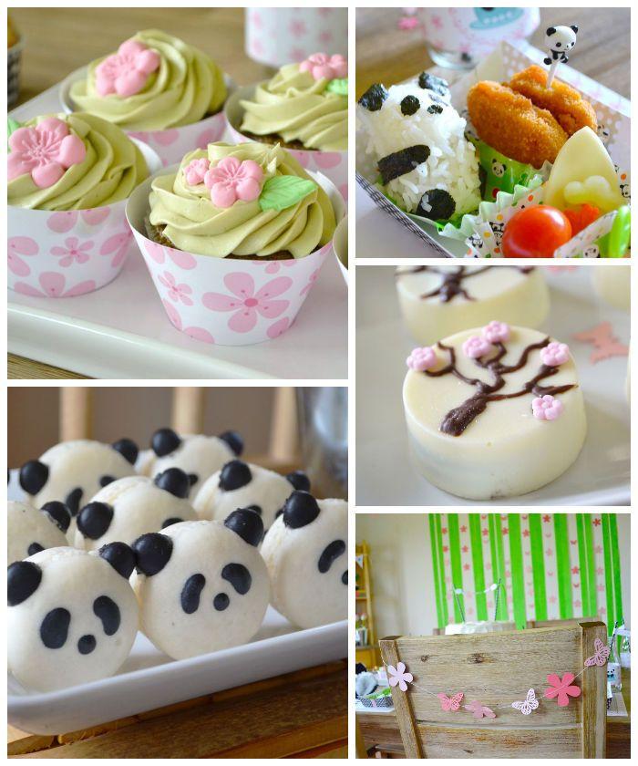 Panda Bear Tea Party via Kara's Party Ideas   Cake, decor, cupcakes, games and more! KarasPartyIdeas.com #pandabearparty #bearparty #pandapa...