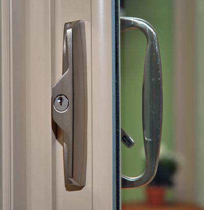 The stylish Brushed Nickel Locking Door Handle option for Legance ...