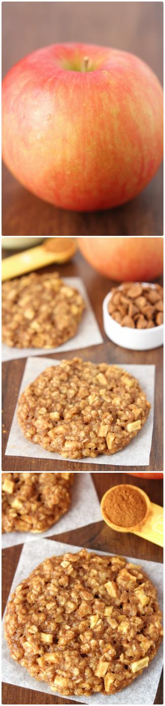 Apple Pie Oatmeal Cookies | Cookboum
