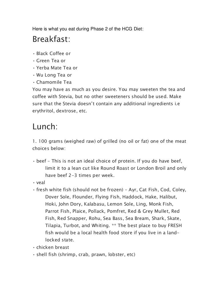 Hcg Diet Phase 2 Acceptable Food List Hcg Diet Hcg Diet Phases Hcg