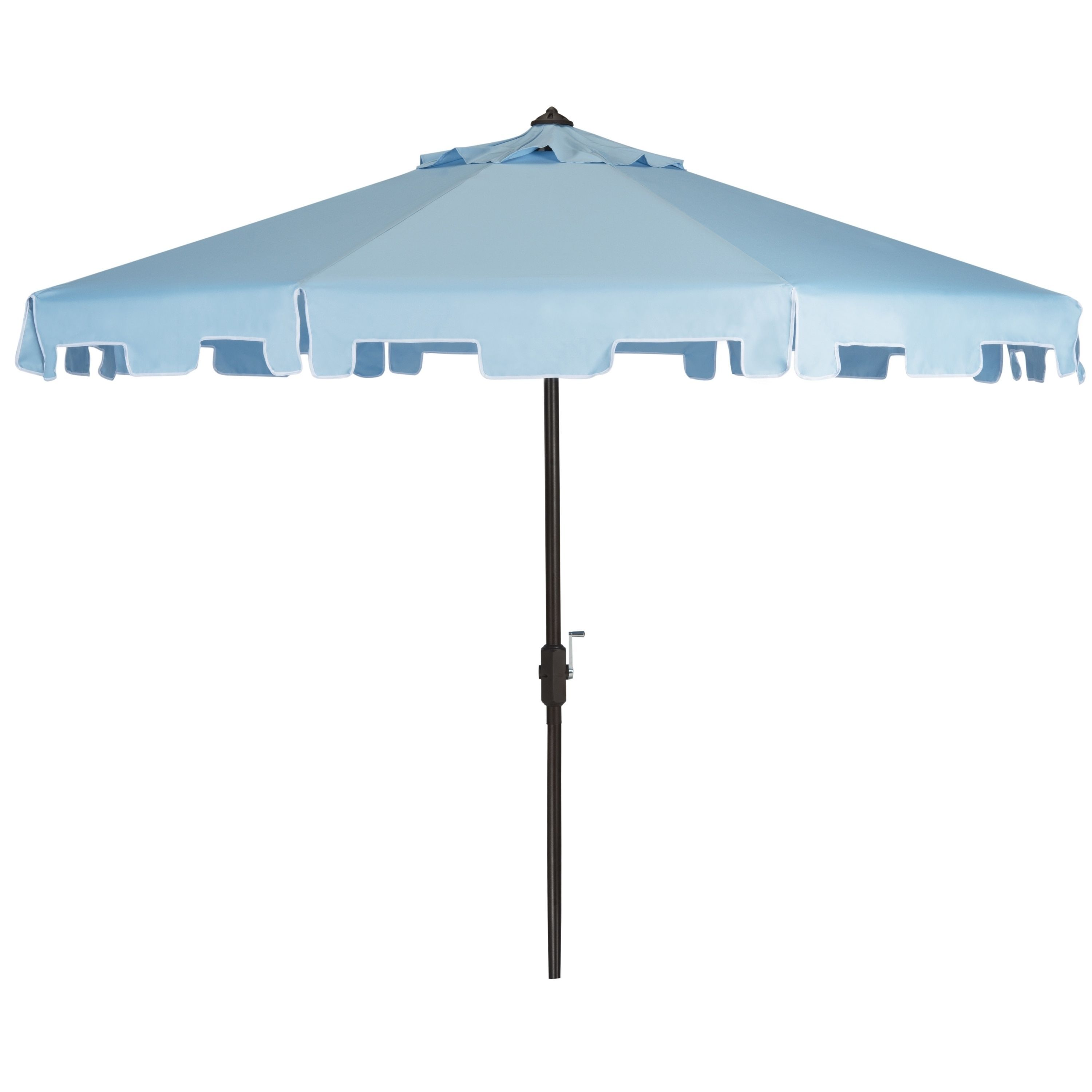 Safavieh Zimmerman Blue Aluminum Tilt and Crank 9-foot Crank Market Patio Umbrella With Flap (PAT8000D)  sc 1 st  Pinterest : crank patio umbrellas - thejasonspencertrust.org