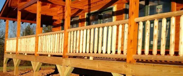Best Log Railing Round Railing Northern White Cedar White 400 x 300