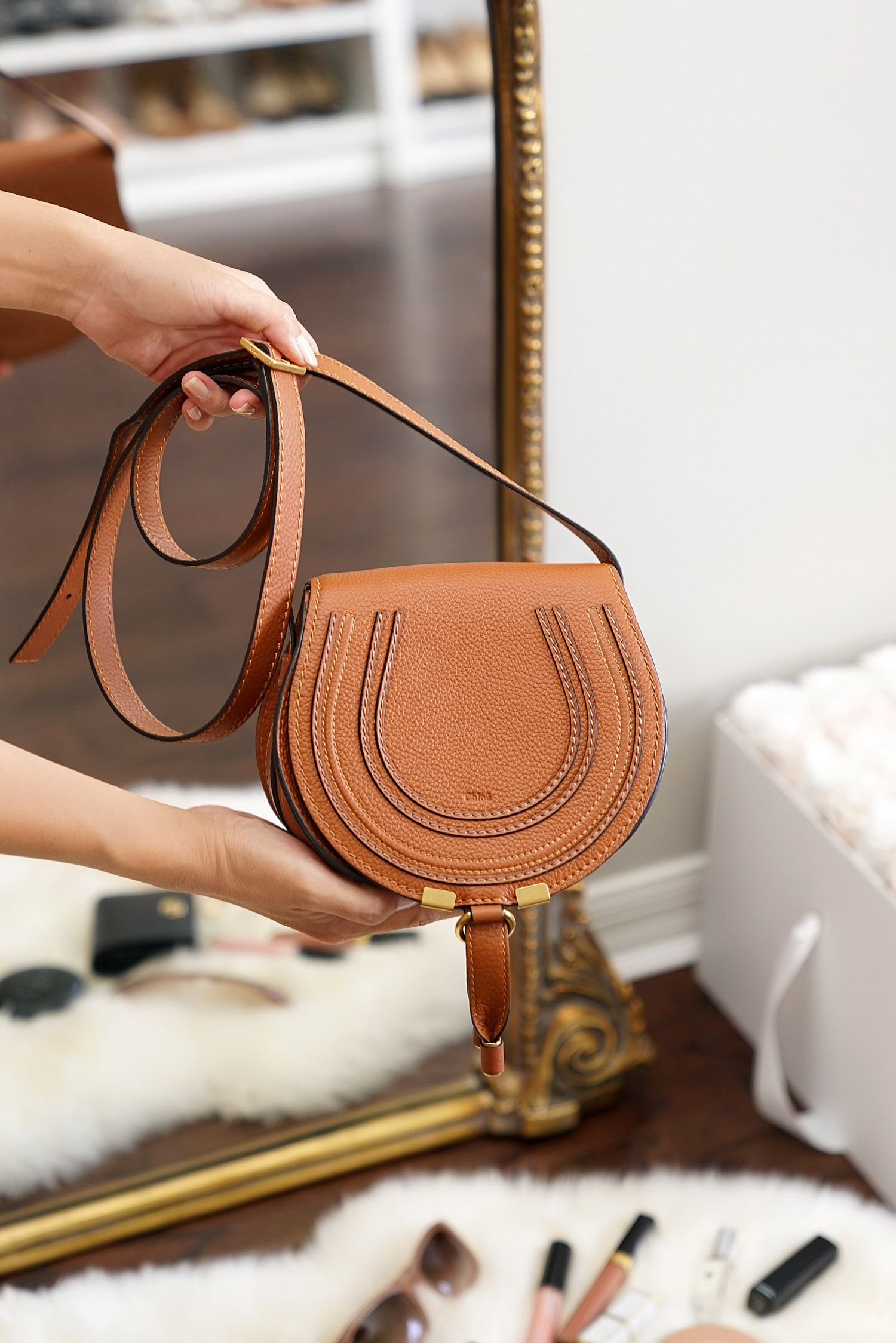 1d19748099 Chloe Mini Marcie Bag Review Tan