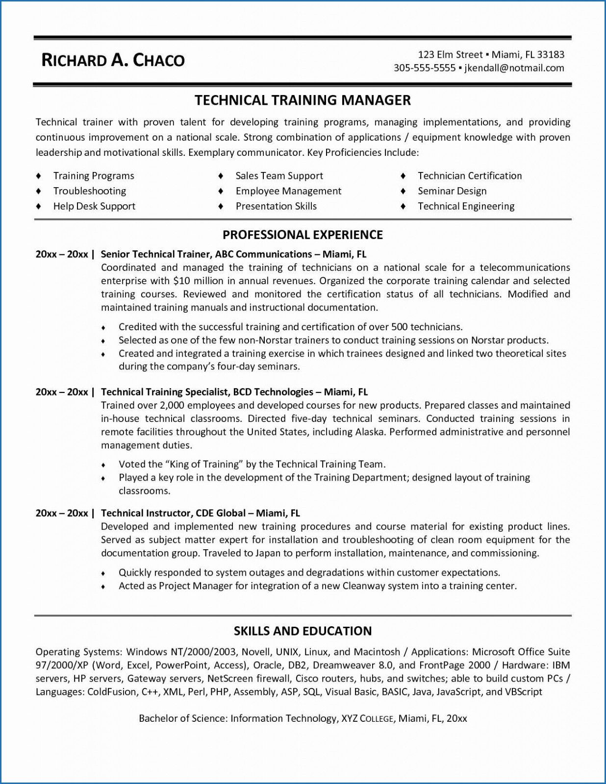 15 Sample Resume for Project Manager Non It