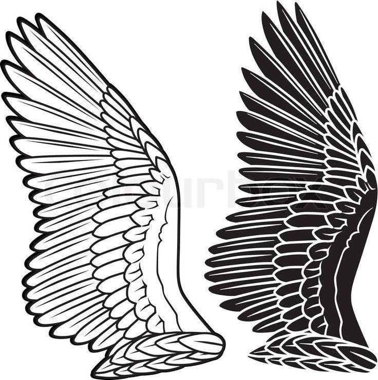 Long Wings Line Drawing