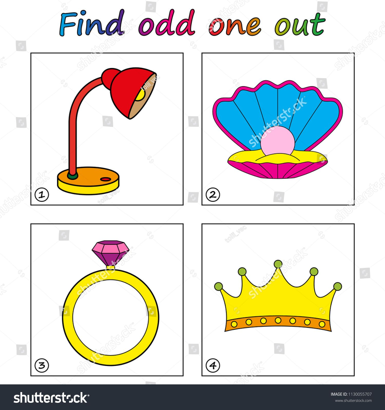 Find Odd One Out Game For Kids Worksheet Visual Educational