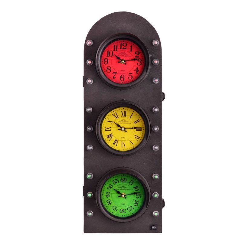 traffic light clock with storage wall decor 25 h battery on wall clocks battery operated id=63421