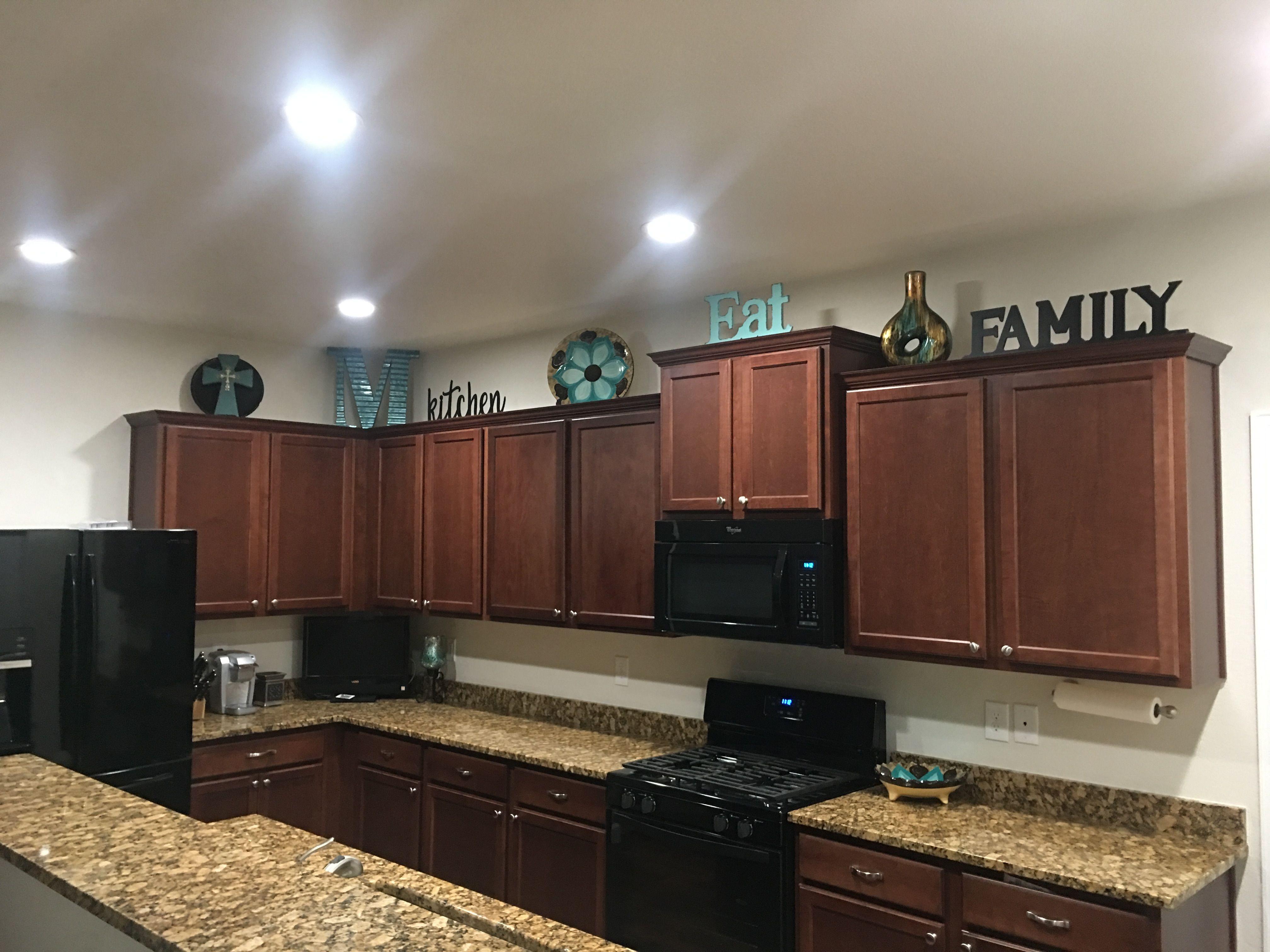 Above cabinet decor | New home ideas | Pinterest | Kitchen ...