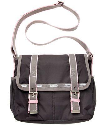 Lesportsac Handbag Artist In Residence Two Pocket Messenger Crossbody Bags Handbags Accessories Macy S