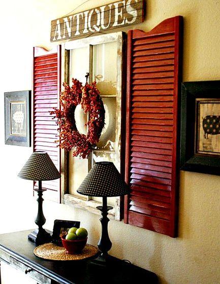 10 Great ideas for Decorating Ideas for Shutters    #thefamilymark  www.thefamilymark.com