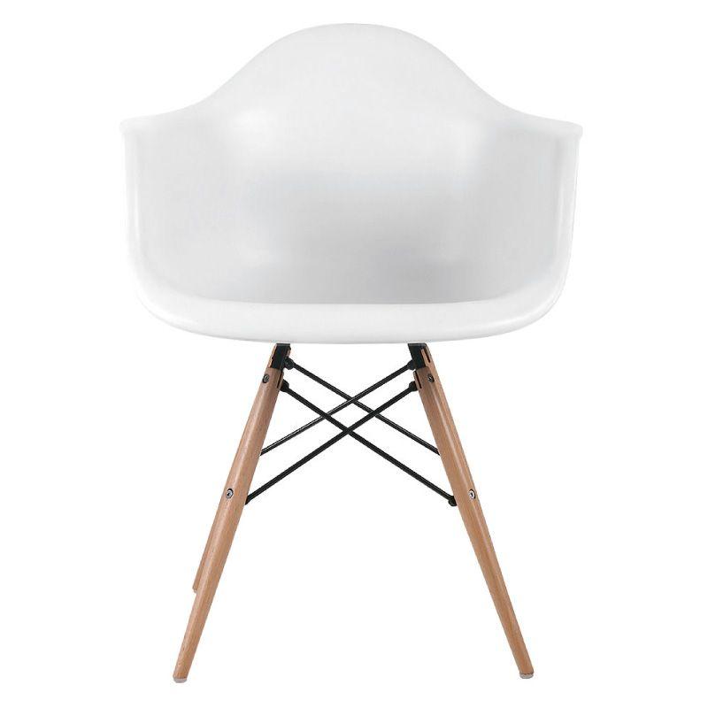 Πολυθρόνα με ενισχυμένο ξύλινο σκελετό και κάθισμα από ιδιαίτερα ανθεκτικό πολυπροπυλένιο σε λευκό ματ χρώμα. Η πολυθρόνα διαθέτει επιχρωμιωμένους βραχίονες σύνδεσης στα πόδια.ΔΙΑΣΤΑΣΕΙΣ: 64Μ x 60Π x 81Υ εκ.