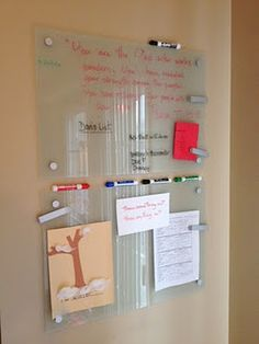 Glass Quot Noticeboards Quot From Ikea Glass White Board Glass Dry Erase Craft Room Office